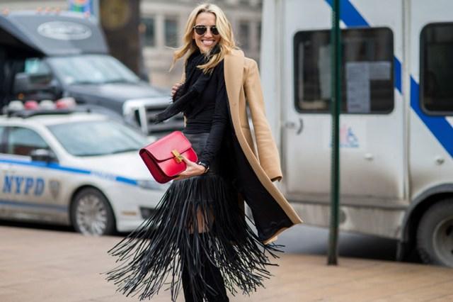 Camel coat NYFW street style