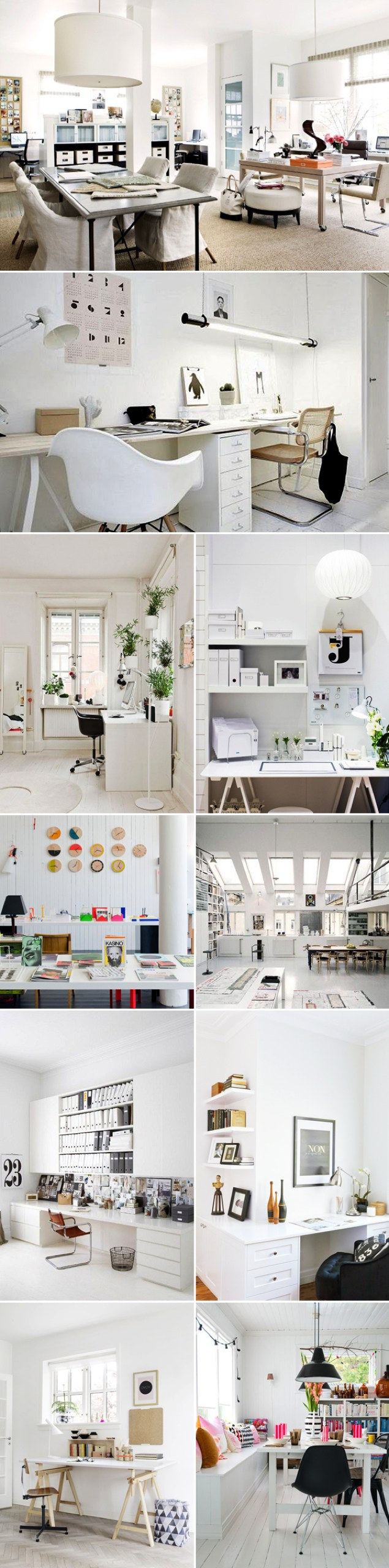 10 All White Home office ideas