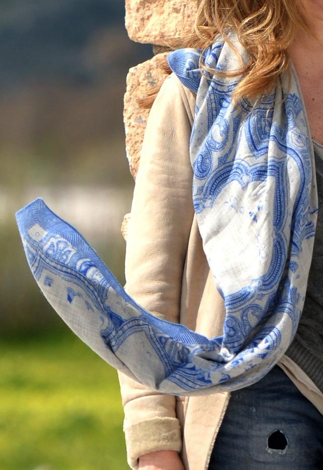 Etro blue scarf