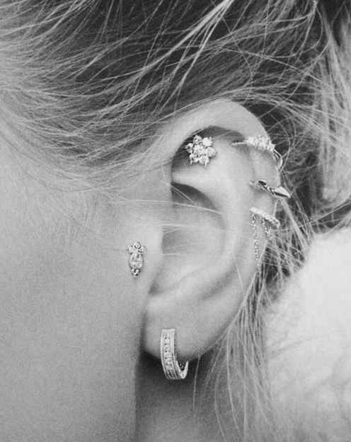 Ear piercing options-BW