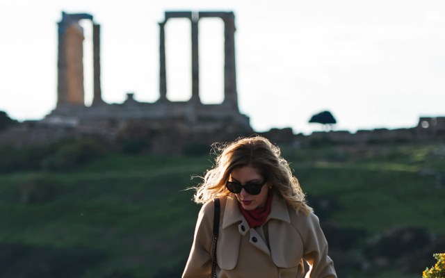Finery Coat Celine Glasses - Poseidon emple Sounio