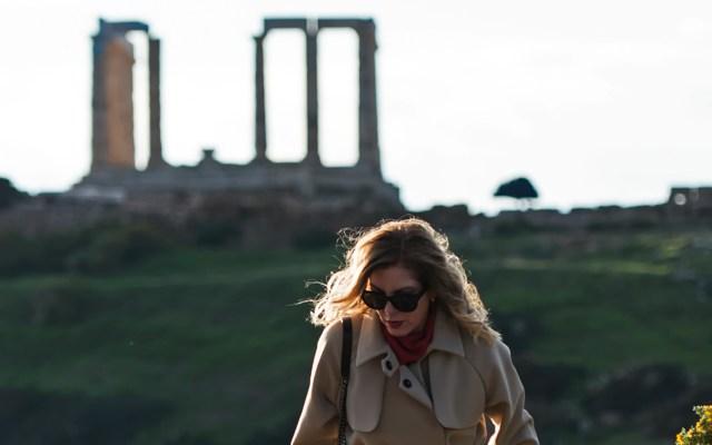 Finery Coat Celine Glasses - Poseidon emple Sounio