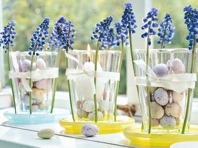egg Easter vases decor