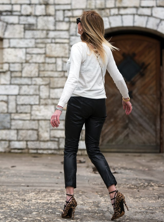 leather pants cropped Nina Papaioannou TrendSurvivor