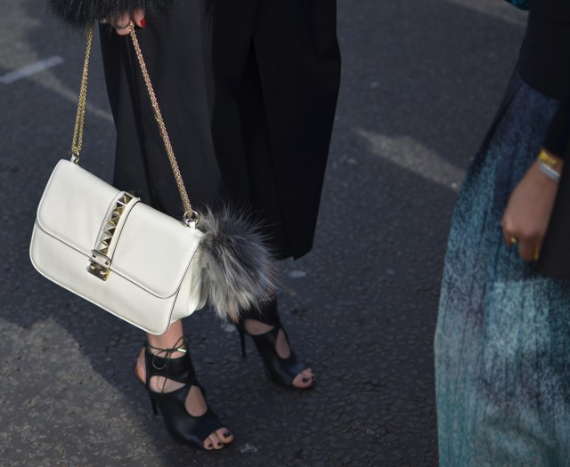 Lock Valentino White Aquazzura shoes LFW