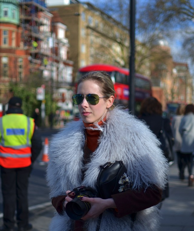 London Fashion Week Outside Burberry Show 2015 Daniella Lella Victoria
