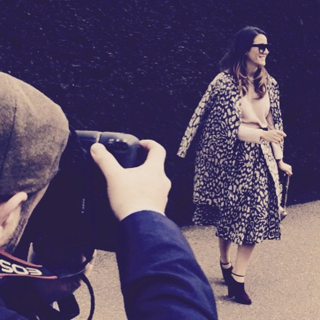 This might be my only good shot from #lfw outside the #burberry show ...