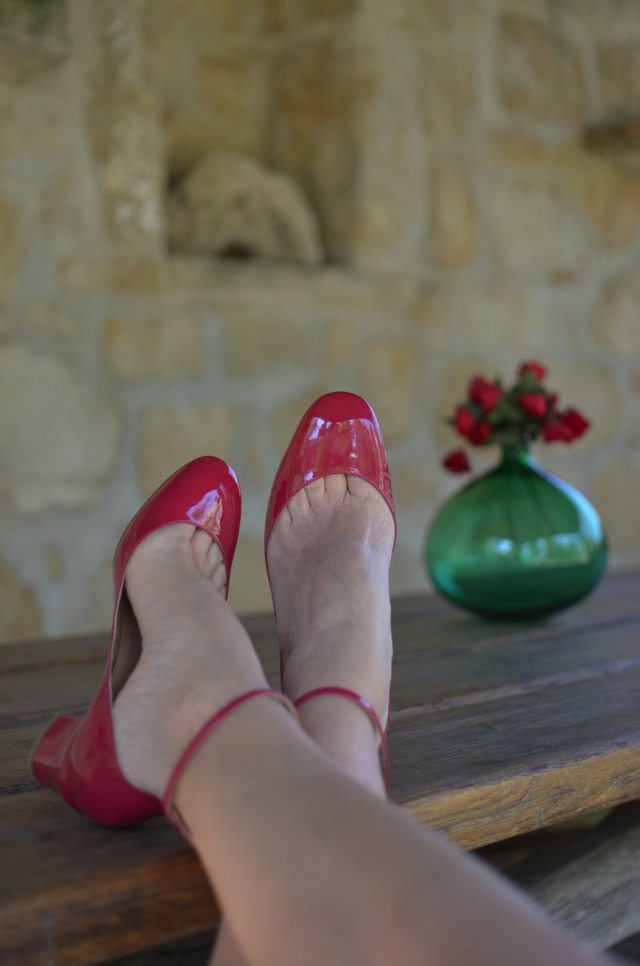 2015 Spring Shoe Trends | Valentino Tango shoes red