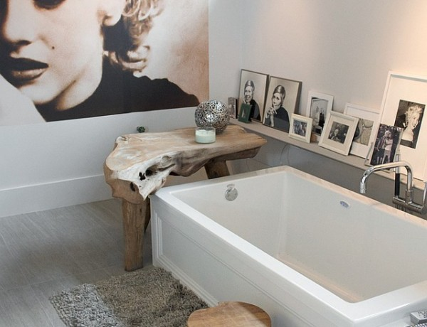 Designers Laura Bohn and her husband, Richard Fiori bathroom
