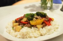 Easy Healthy Recipes   Four Color Peppers Beef with Pineapple