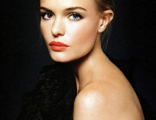 Kate Bosworth orange red lipstick
