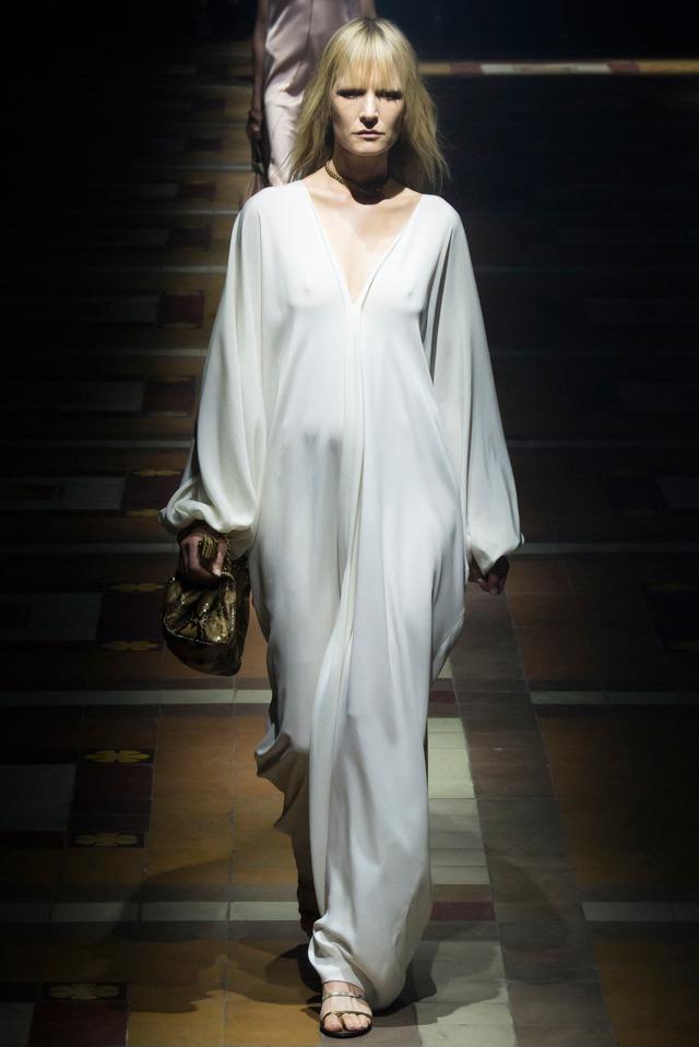 Lanvin latest fashion trends white caftan dresss