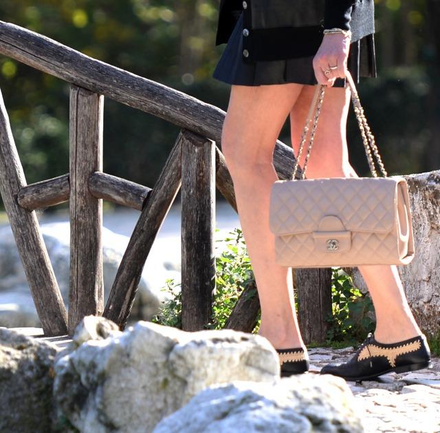 Chanel handbag Bottega Veneta shoes