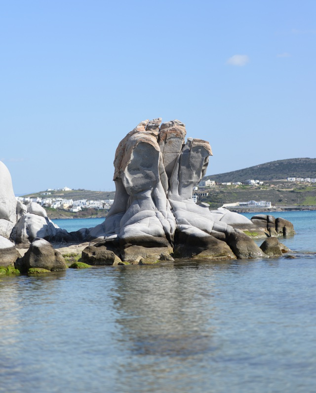 Incredible rock formation in Kolibithres Paros, Greece