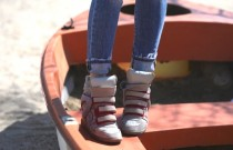 FridayShoesDay | The Casual  Essential Wedge High Top Sneakers