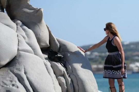 Summer Party dress code Riviera Maje dress, Isabel Marant lace up sandals blogger style TrendSurvivor02