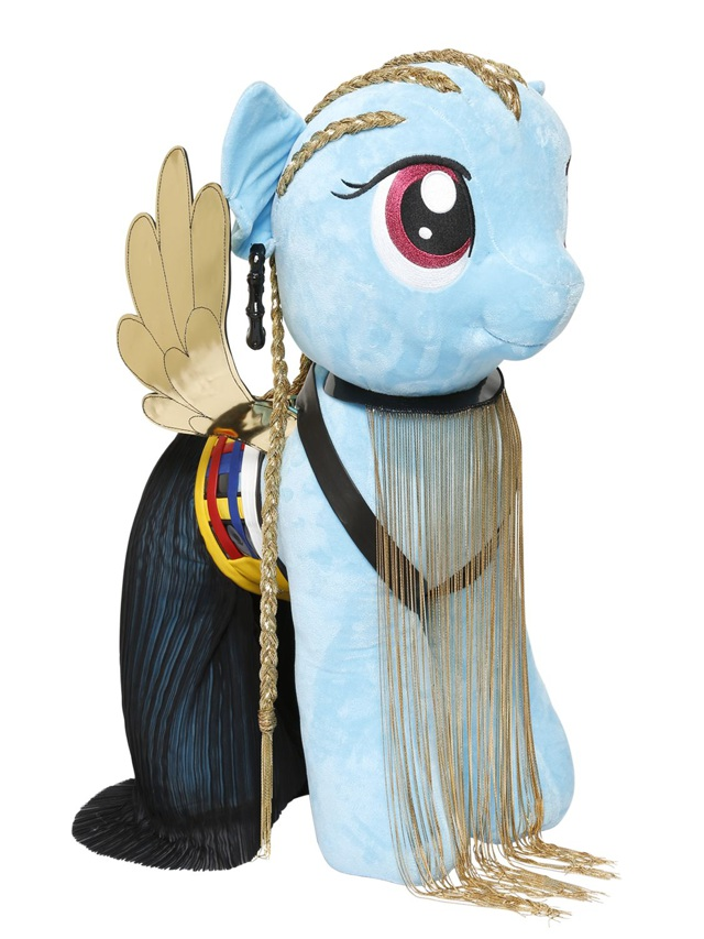 My Little Pony Balmain wearing necklace
