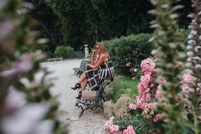 Midi dress, Italian style, Aquazzura heels