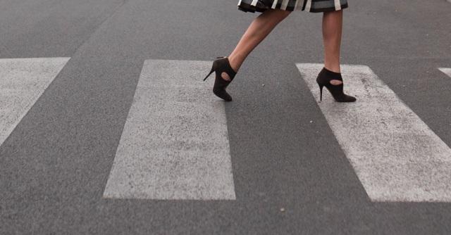 Aquazzura ankle boots, zebra crossing Rome, Italian style