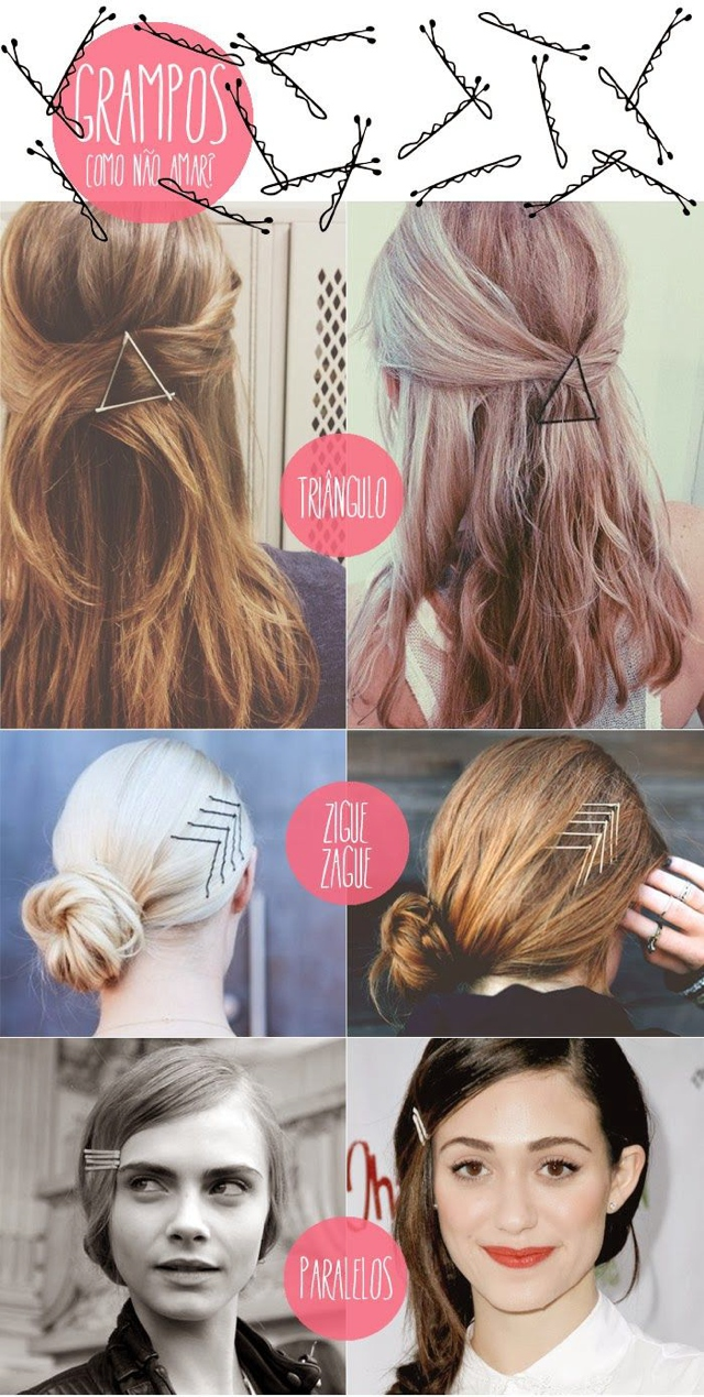 Hair ideas with hair pins