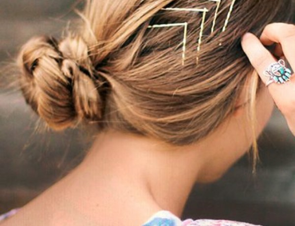 Hair ideas with hair pins, arrow