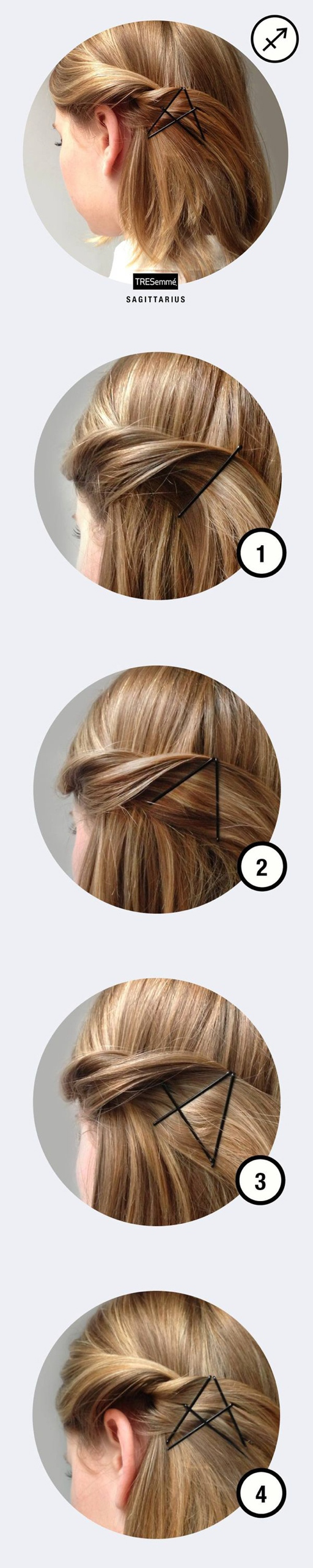 twist hair using bobby pins