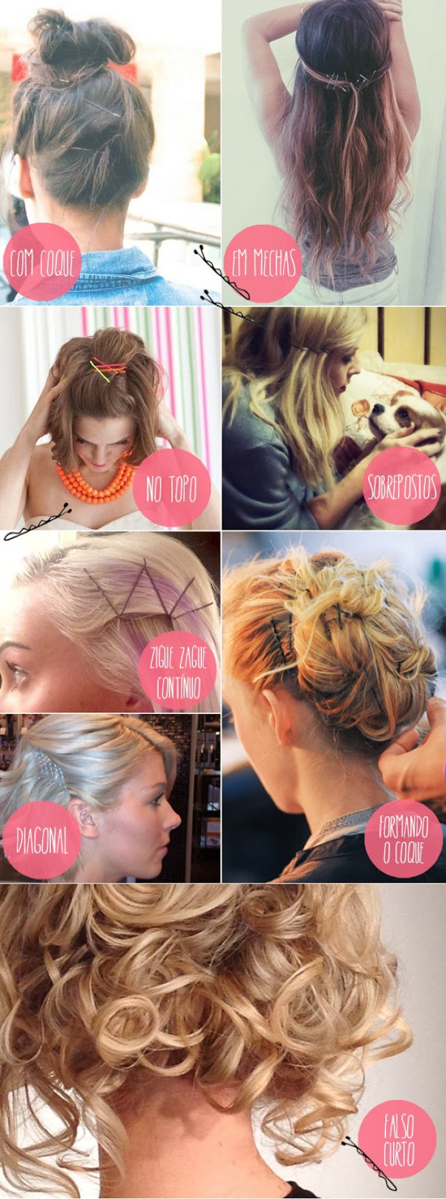 Hair ideas with hair pins 05