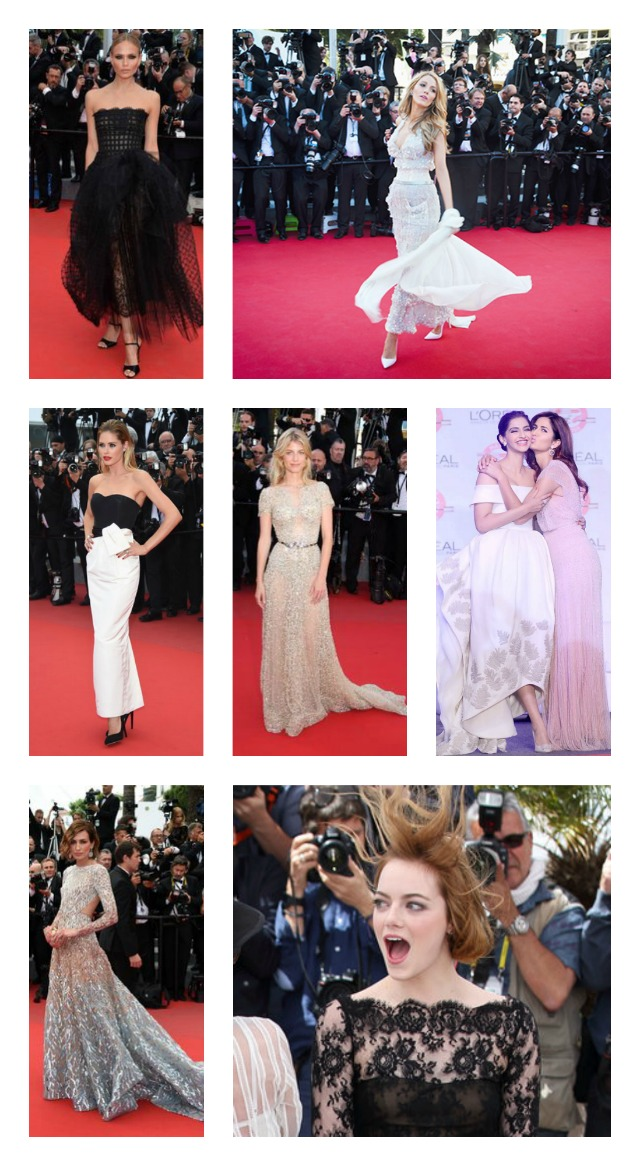 Prom dress inspiration Cannes 2015 evening-wear black and silver gowns