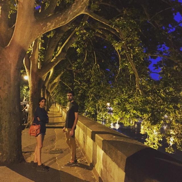 Tiber night Rome