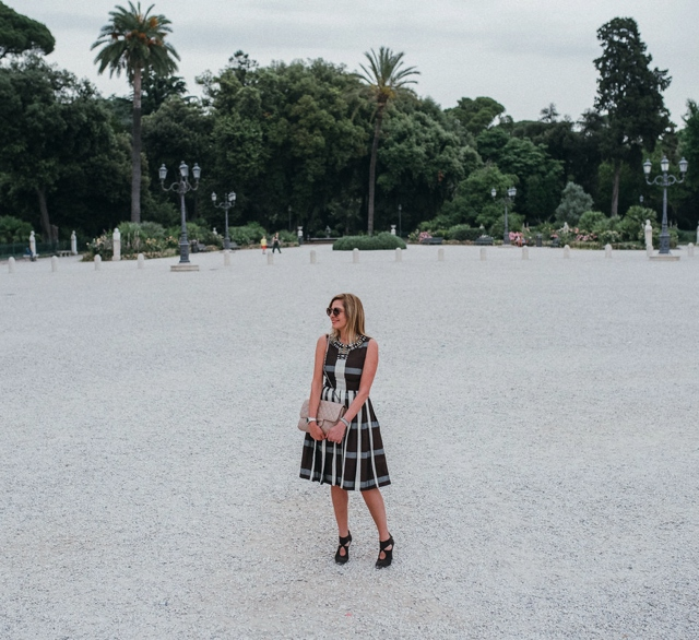 TrendSurvivor Italian Style, Villa Borghese gardens, Anthropologie dress