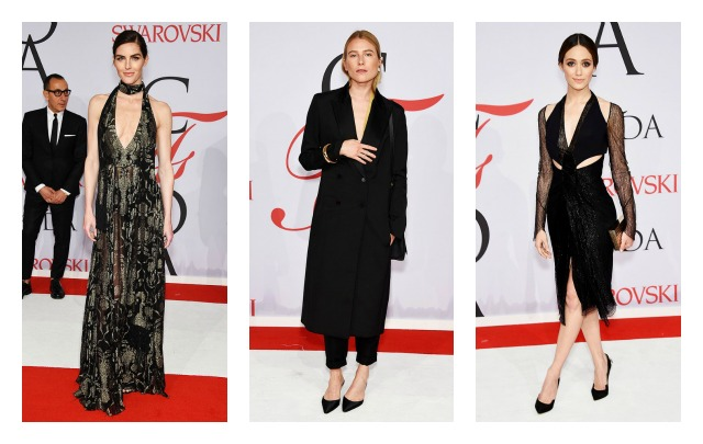 2015 CFDA Awards Best Dressed- celebrity red carpet,hilary rhoda,dree hemingway,emmy rossum