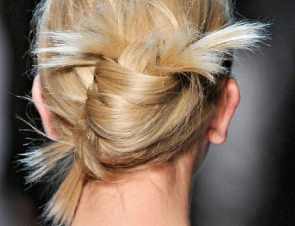 Fresh French twist, banana updo