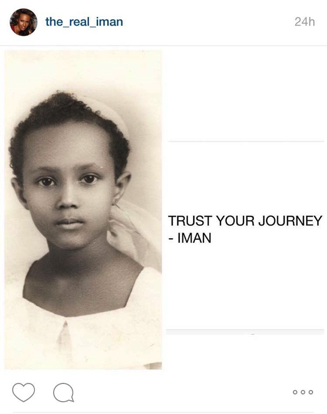 trust your journey- Iman