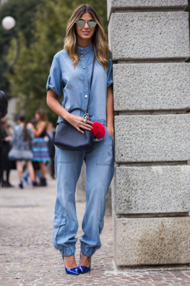 How To Wear Denim Jumpsuits