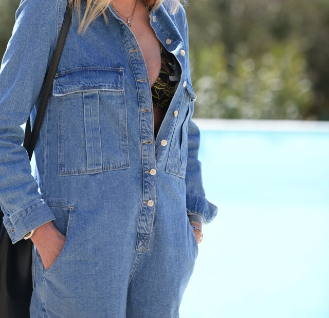 shortalls denim and Isabel Marant bikini