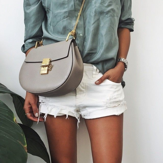 white cutoffs, Drew Chloe bag
