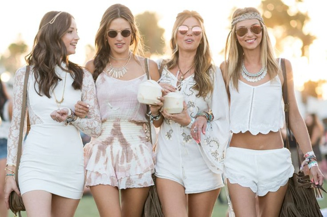 white summer looks from Coachella
