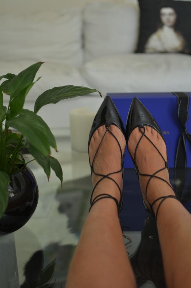 Aquazzura Christy pointy lace-up fllat shoes, TrendSurvivor, fit