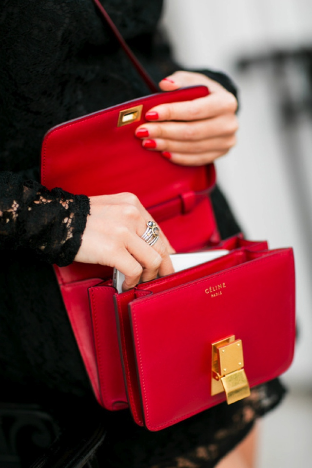 Celine red bag