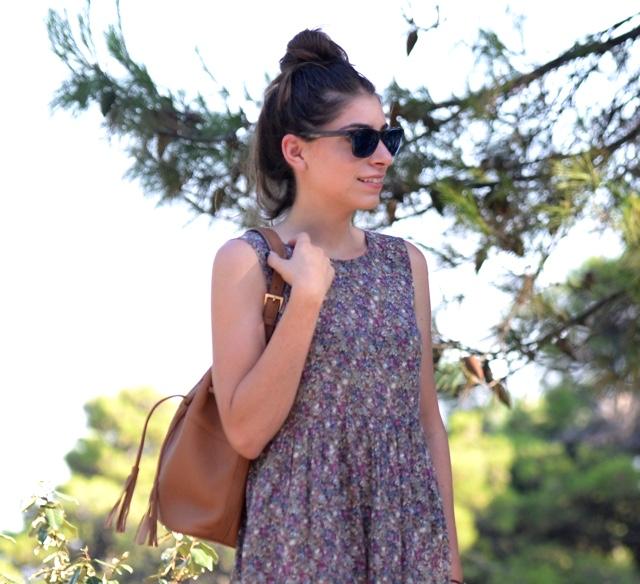GiGi New York Jenn bucket handbag, top knot hairstyle
