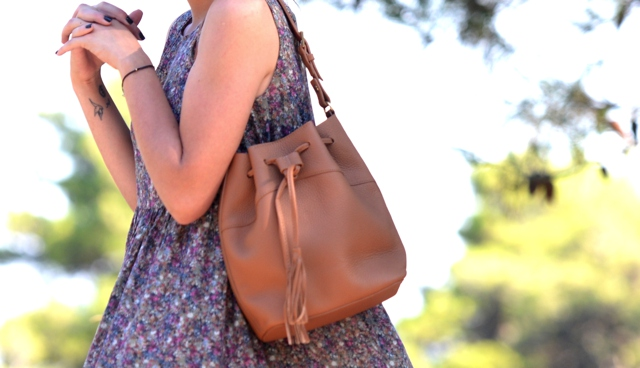 GiGi New York Jenn bucket  handbag