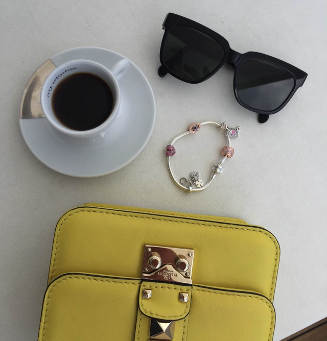 Soufeel charm bracelet, , coffee, Celine Winter 2015 sunglasses