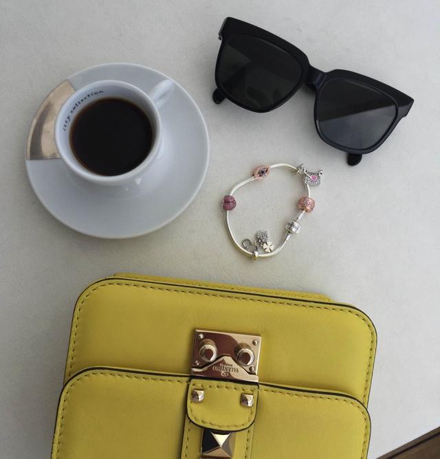 Soufeel charm bracelet, , coffee, Celine Winter 2015 sunglasses