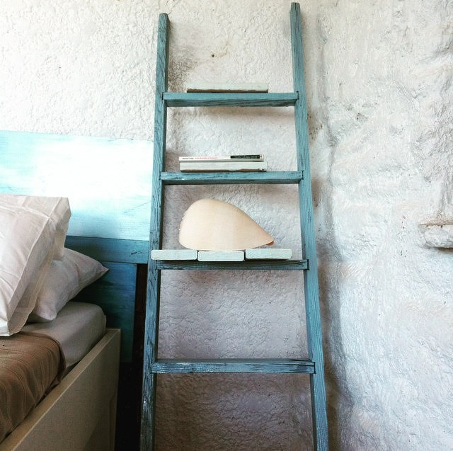 ladder shelves shabby chic