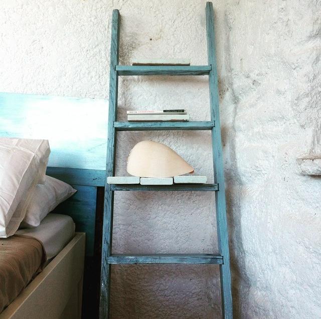 ladder shelves shabby chic