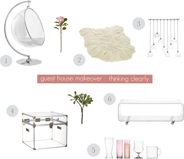 Plexiglass clear home decor objects