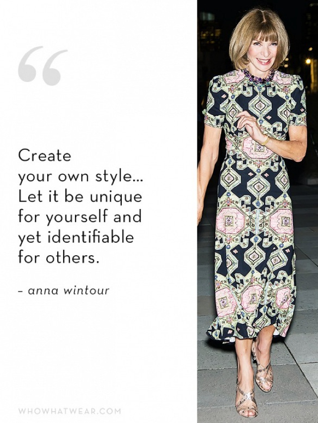 Anna Wintour style quote