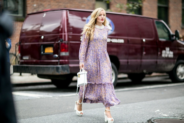 Kate Foley New York Fashion Week maxi dress