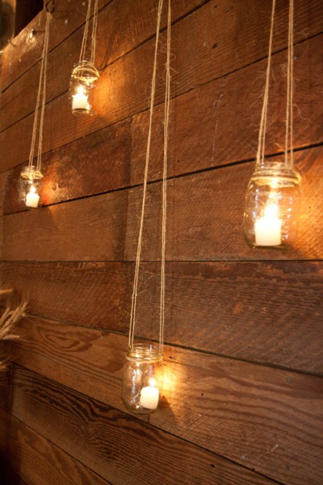 Lighting idea bottles patio