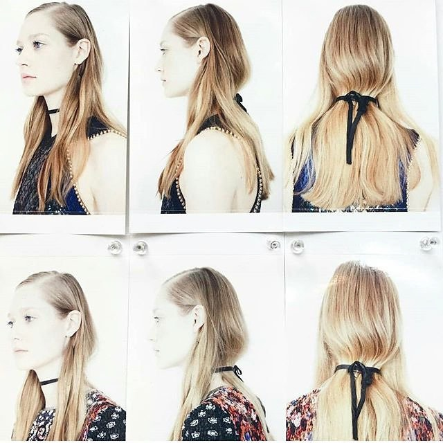 Mary Katrantzous Spring 2016 show hair